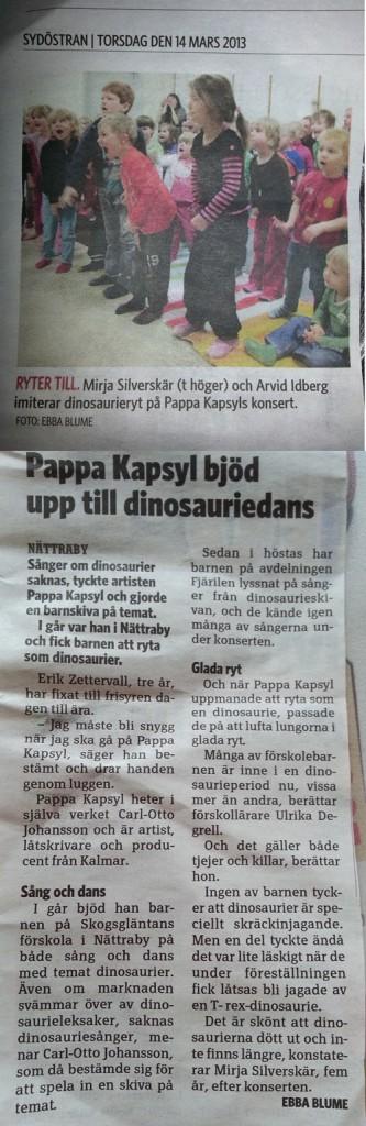 Pappa Kapsyl Sydöstran 2013